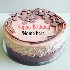 Write Name On Special Birthday Cake For Dear Mother, Pitch color birthday cake with name on it, Special birthday cake decorated with chocolate flower Birthday Cake For Brother, Mother Birthday Cake, Cartoon Birthday Cake, Yellow Birthday Cakes, Birthday Cake Writing, Friends Birthday Cake, Happy Birthday Wishes Cake, Strawberry Birthday Cake, Birthday Cake For Mom
