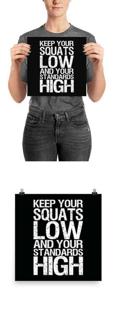 Squat, Leg Day, Gym Poster, Motivational Prints, Gift For Bodybuilding, Weightlifting, Powerlifting, Crossfit, WOD, Fitness, Workout - #afflink