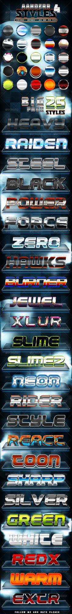 Aanderr Styles 4 - Big Pack http://graphicriver.net