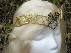 Khaleesi Inspired Three Headed Dragon Crown Tiara by sbuderfly