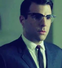 I'm in love with a serial killer. I'm sick in the head. Least he's not really a serial killer. #AHSAsylum Zachary Quinto # Dr.Oliver Thredson# Adorable#Adorkable