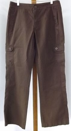 Gander Mountain Pants Size 8 Casual Cargo Brown Rugged Outdoor Women #GanderMountain #Cargo