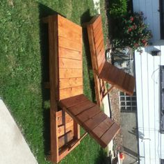 Recycled single and double lounge chairs 155$ single 200$ double  Anderson Pallet Design