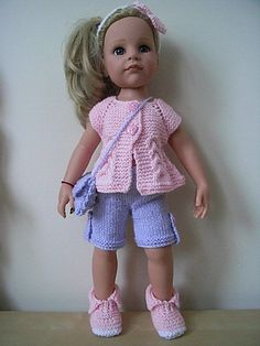 AMERICAN GIRL/GOTZ HANNAH DESIGNAFRIEND HAND KNITTED DOLLS CLOTHES