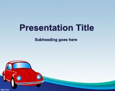 Free car powerpoint template for transportation and traffic lights this old car insurance powerpoint template is a free template with an old beatle vw car that you can download today for your car insurance presentations in toneelgroepblik Images