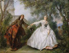 Lancret, Nicolas (b,1690)-Jean de La Fontaine's Fable- 'Nicaise'