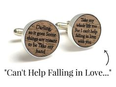 Elvis- Can't Help Falling in Love // Love this idea for the 5 year anniversary gift, or a wedding day gift to the groom!