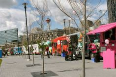 Calgary and a beautiful line-up of food trucks! #foodtrucklove
