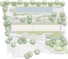landscape plan / Soplo House / Cazú Zegers G.  possibly done in photoshop, illustrator, and autocad