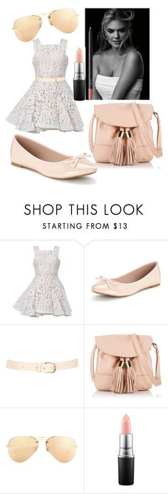 """""""Nude Kate"""" by lulularouche ❤ liked on Polyvore featuring Alex Perry, Maison Boinet, See by Chloé, Ray-Ban, MAC Cosmetics and NARS Cosmetics"""