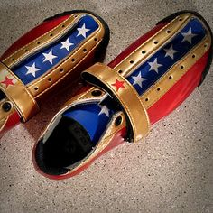 Special Wonder Woman Bont Quads hit the track. #superhero #BontSkates #LeadjammerSkates #RollerDerby   Flickr - Photo Sharing!