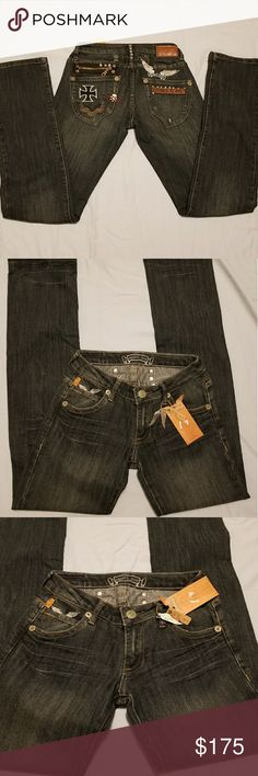 🆕️NWT Robin's Rock & Roll Jeans Sz 26 BRAND NEW WITH TAGS! Never Worn ! 🎉- OFFERS WELCOME -🎉  ROBIN'S - Women's Rock & Roll - Real Anniversary Jeans  Fitted Bootleg SIZE: 26 Robin's Jean Jeans Boot Cut
