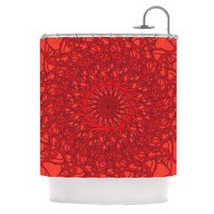 East Urban Home Mandala Spin Romance by Patternmuse Geometric Shower Curtain