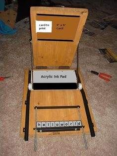 The Homemade Letterpress [UPDATE]. I don't get how it works but ill study it later.