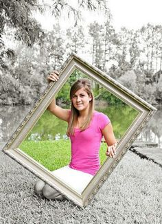 Senior picture - love the part color, and part black white
