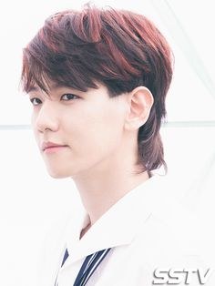 A mullet never looked so good to me #Baekhyun #plsnomulletsinthefuturethx