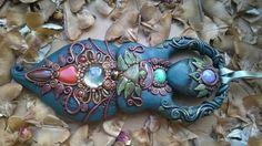 Powerful healing Chakra Goddess inlayed with natural gemstones Wall hanging Alter piece Meditation Mindfulness Pagan Druid