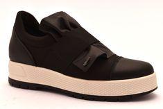 83b6b82cb7 IGI&CO 2157700 NERO Sneakers Scarpe Slipon Zeppa Interna Invernali Pelle  Donna