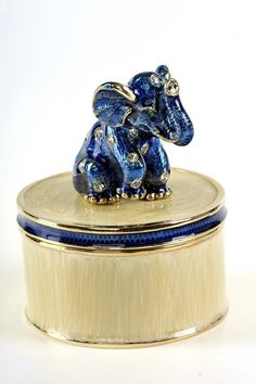 Faberge Elephant Trinket Box by Keren Kopal - Swarovski Crystal Jewelry Box - Each item is made of pewter Elephant Love, Elephant Parade, Elephant Gifts, Faberge Jewelry, Faberge Eggs, Pretty Box, Objet D'art, Crown Jewels, Saint Petersburg