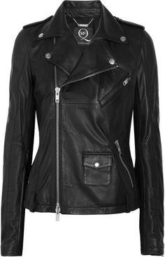 Leather Biker Jacket - Lyst