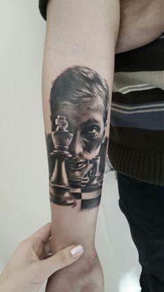 bobby fischer portrait tattoo
