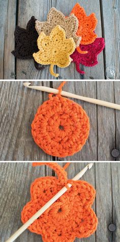 [Free Pattern] Lovely Crochet Leaves For The Fall Lovers - Page 2 of 31 - Free Crochet Patterns Crochet Leaves, Crochet Fall, Holiday Crochet, Crochet Gifts, Filet Crochet, Crochet Flowers, Crochet Potholder Patterns, Crochet Stitches, Knitting Projects