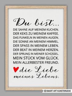"""""""LIEBE+MEINES+LEBENS""""+Kunstdruck+von+SMART+ART+Kunstdrucke+®+auf+DaWanda.com:                                                                                                                                                                                 Mehr"""