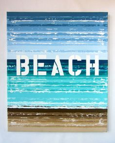 Beachside  20 x 24 Handpainted Mixed Media on by kzbykatezitzer, $125.00