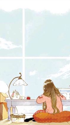 Image discovered by undoubtedl-y. Find images and videos about girl, art and wallpaper on We Heart It - the app to get lost in what you love. Kawaii Wallpaper, Cartoon Wallpaper, Aesthetic Art, Aesthetic Anime, Cover Wattpad, Anime Scenery, Anime Art Girl, Cute Illustration, Cartoon Art
