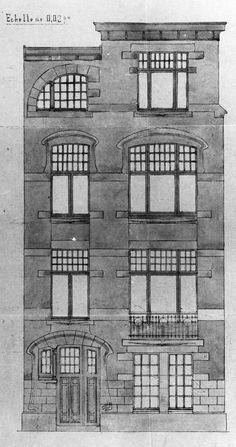Etterbeek - Rue de Linthout 156, 158, 160, 162, 164 - DECHAMPS