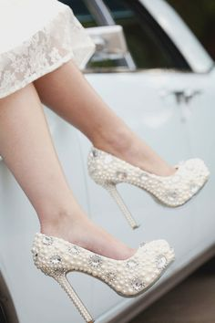 Jeweled Bridal Shoes Silver Crystal Sparkle Wedding by bridalized, $369.00