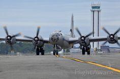 B-29 Taxiing onto Kilo 7, Paine Field, Everett, WA.  Canon 5D MkII w/300mm lens.