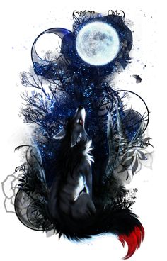 T: Watching by Snow-Body on DeviantArt Anime Wolf, Cute Animal Drawings, Cute Drawings, Wolf Drawings, Drawing Faces, Fantasy Wolf, Fantasy Art, Wolf Artwork, Wolf Spirit Animal