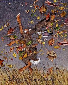 Autumn Hare by Maggie Vandewalle