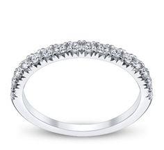 Simon G. 18K White Gold Diamond Wedding Ring 1/4 ct tw