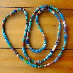 RUSTIC 30 Turquoise Mix Necklace Antique by BraceletsofBlueRidge