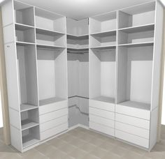 Walk In Closet Design, Bedroom Closet Design, Master Bedroom Closet, Bedroom Decor, Bedroom Cupboard Designs, Bedroom Cupboards, Wardrobe Door Designs, Closet Designs, Closets Pequenos
