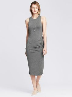 Ruched Jersey Long Dress