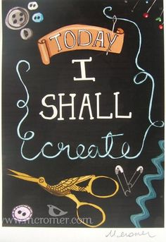 Today I shall create << this is how I battle my depression: knitting, sewing, quilting, baking, cooking...