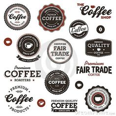 Vintage Coffee Labels Royalty Free Stock Photos - Image: 23018788