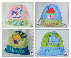 Kindergartenbeutel mit Name von Cheyennen auf DaWanda.com
