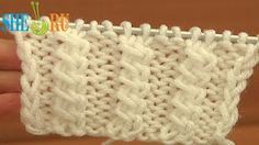 Front Cross Cable Stitch Pattern Knitting Tutorial 11 Easy Cable Stitch ...