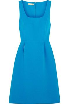 Blue crepe Concealed hook and zip fastening at back  96% virgin wool, 4% elastane  Dry clean Designer color: Wave Made in Italy