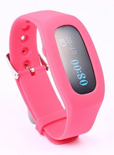 Fitness Tracker, Smart Wristband Pedometer Bracelet Activity Tracker for iPhone and Andriod Phone (Rose Red)