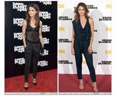 Keri-Russell-Fashion-Style-Wrap-jean-Jumpsuit