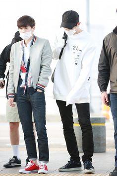 160424 EXO Suho & Chanyeol | Incheon AIrport to Shenyang