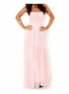 Exclusive Slow Dance Strapless Pink Maxi Dress - Pink- Pink maxi ...