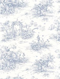 toile, exploring a traditional design pattern - April 2012 Toile Wallpaper, Pattern Wallpaper, Iphone Wallpaper, Monogram Wallpaper, Chewbacca, Diy Doll Miniatures, Timorous Beasties, How To Install Wallpaper, Blue Aesthetic
