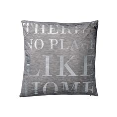 This beautiful cushion from Bloomingville is made from 100% cotton in a simple grey colour.  NO PLACE LIKE HOME