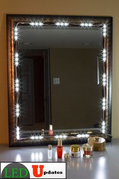 My DIY Vanity Mirror AFTER - with LED lights, for a LOT less than ...